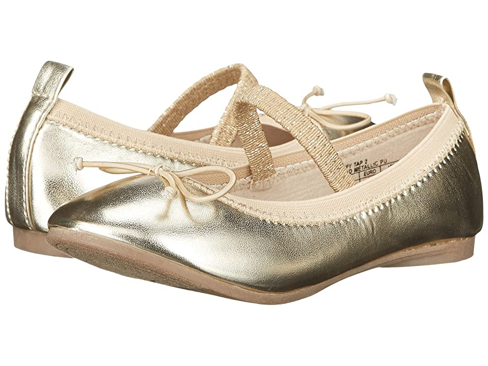 Kenneth Cole Reaction Kids Copy Tap 2 (Toddler/Little Kid) (Gold) Girls Shoes