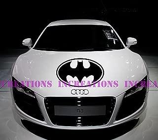 Batman Superhero Decal Hood Stripe Any Car Decals Stickers Racing Graphic (Black)