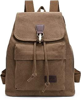 Qyoubi Women's Large Capacity Canvas Backpack Outdoor Travel Girls Rucksack Casual Daypacks Multipurpose Bag Coffee