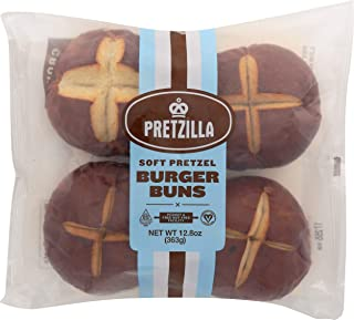 Pretzilla, Soft Pretzel Burger Buns, 12.8 oz (Frozen)