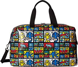 Keith Haring X Alice + Olivia Whitney Printed Weekender