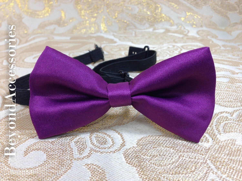 New Suspender Bow Tie Matching Set- Unisex Toddlers - Purple