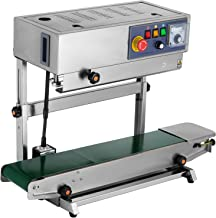 Happybuy Continuous Band Sealer FRB-770 Automatic Continuous Sealing Machine with Digital Temperature Control Vertical Band Sealer for Bag Film