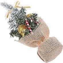 KESYOO Mini Tabletop Christmas Tree Frosted Artificial Christmas Tree Small Xmas Tree with Bow and Ball Ornaments Christma...