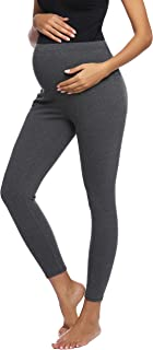 Women Maternity Thick Over-The-Belly Lounge Leggings Pants for Pregnant