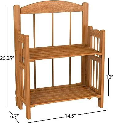 Lavish Home baldas – estantería para Libros, Acabado de Cedro