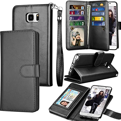 48d57a1ec44a Tekcoo Compatible for Galaxy Note 5 Wallet Case Samsung Galaxy Note 5 PU  Leather Case
