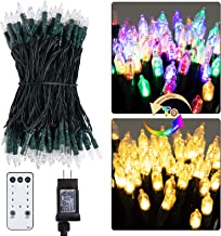 Christmas Mini String Lights Outdoor 75 Feet 200 LED 9 Modes Connectable Fairy Lights with Remote Timer Dimmer Plug in for...