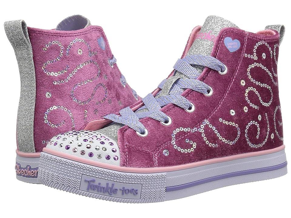 SKECHERS KIDS Twinkle Toes Twinkle Lite 10969L Lights (Little Kid/Big Kid) (Pink/Silver) Girl