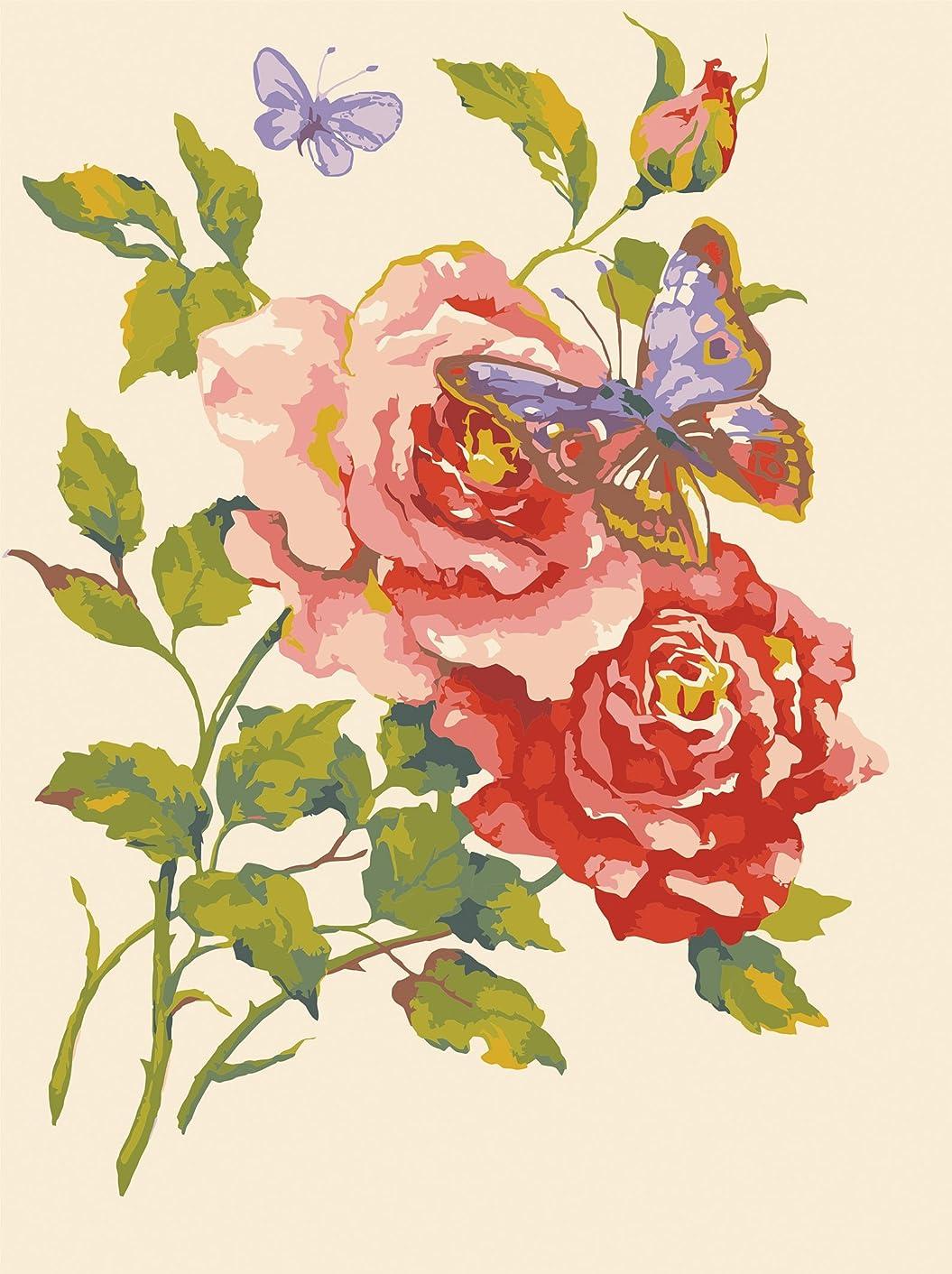 Needlepoint Painted Canvas Cross Stitch Tapestry Kit Gobelin - Flowers. 16