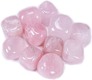 Bingcute Brazilian Tumbled Polished Natural Rose Quartz Stones 1/2 Ib for Wicca, Reiki, and Energy Crystal Healing (Rose Quartz)