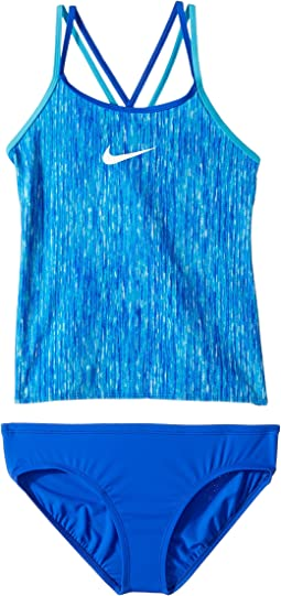 Nike Kids Rush Heather Spiderback Tankini Set (Big Kids)