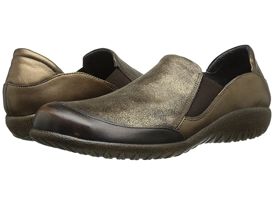 Naot Moana (Volcanic Brown Leather/Bronze Shimmer Suede/Grecian Gold Leather) Women