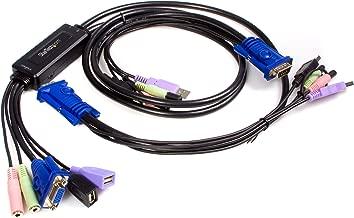 StarTech.com 2 Port USB VGA Cable KVM Switch with Audio - desktop KVM Switch - VGA KVM Switch - USB KVM Switch 2 Port (SV215MICUSBA)