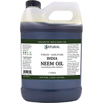 Organic Neem Oil (1 Gallon) 100% Pure Cold Press Skin, Hair, and Nails