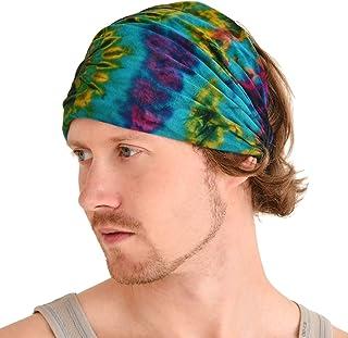 CHARM Tie-Dye Bandana Headbands - Psychedelic Hippie Womens Head Scarf Boho Mens