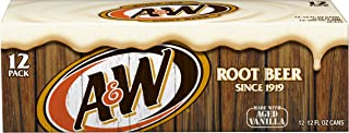 A&W Root Beer, 12 fl oz cans, 12 count