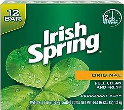 Irish Spring Original Deodorant Bar Soap, 12 Count  (Pack of 6)