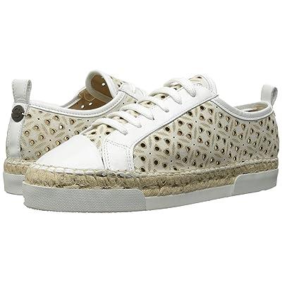 Sonia Rykiel Perforated Velvet Sneaker (White) Women