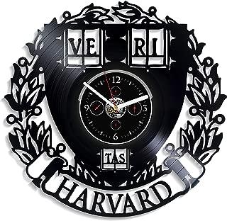 Harvard Wall Clock Vintage Vinyl Record Retro Wall Clock Harvard University Art Exclusive Birthday Gift Harvard University Gift New Year Gift Ve Ri Tas Harvard Wall Clock Modern Gift
