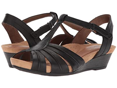 Rockport Cobb Hill Collection Cobb Hill Hollywood Pleat T (Black Leather) Women