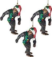 Design Toscano DB983084 Bigfoot, The Holiday Yeti Holiday Ornaments: Set of Three