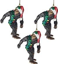 Design Toscano DB983084 Bigfoot, The Holiday Yeti Holiday Ornaments: Set of Three