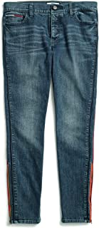 Tommy Hilfiger Adaptive Women's Jegging Jeans with Velcro Brand and Magnetic Button Fly, Dark wash