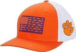 Clemson Tigers PFG Mesh™ Fish Flag Ball Cap