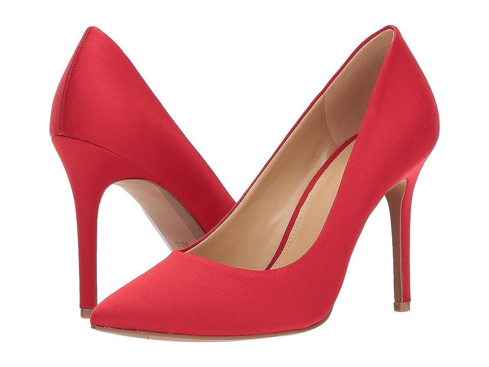 MICHAEL Michael Kors Claire Pump (Bright Red Satin) Women