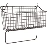 Spectrum Diversified Pegboard/Wall Mount Basket and Paper Towel Holder