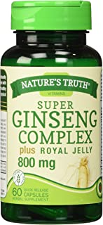 Nature's Truth Ginseng Complex 800 mg Supplement, 60 Count