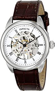 Women's 17196 Specialty Analog Display Mechanical Hand Wind Brown Watch