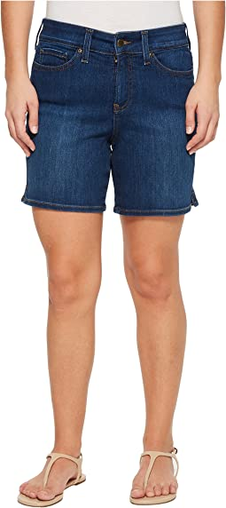 Petite Jenna Shorts w/ Mini Side Slit in Cooper in Cooper