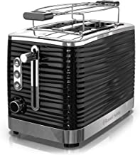 Remington Russell Hobbs TR9350BR Coventry 2-Slice Toaster, Black, Included Warming Rack