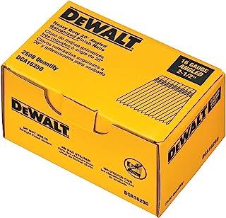 DEWALT Finish Nails, 2-1/2-Inch, 16GA, 20-Degree, 2500-Pack (DCA16250)