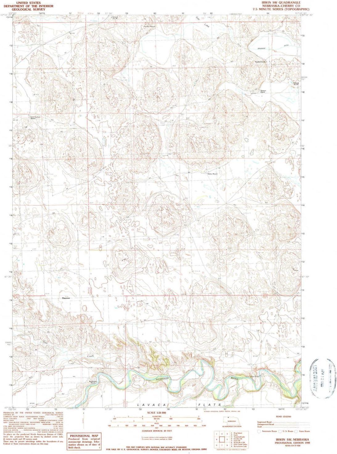 YellowMaps Award Irwin SW NE Wholesale topo map X Minute 1:24000 7.5 Scale