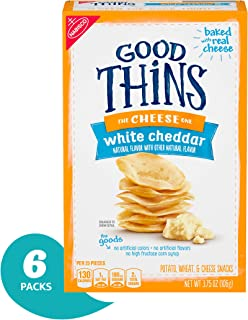 Good Thins White Cheddar Crackers, 3.5 Oz Boxes (Pack Of 6)