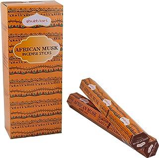 Shubhkart African Musk Incense Sticks - (Pack of 6 Tubes Inside The Box) 120 Sticks