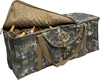 Rig'Em Right Waterfowl 12-Slot Deluxe Duck Decoy Slotted Hunting Bag with Padded Protection and Bottom Drains