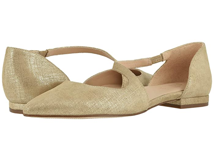 Naturalizer  27 Edit Heather (Taupe Metallic Linen Leather) Womens Flat Shoes