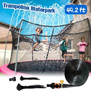 CUJMH Trampoline Sprinkler for Outdoor Kids Trampoline Backyard Water Yard Sprinkler Sport Summer Water Toys for Boys Girls(49ft)