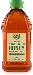 Sponsored Ad - Naked Wild Organic Raw Wildflower Honey, 48 Ounce