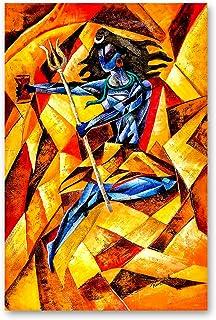 Rizmonk Canvas Painting - 'Shiva Tandav' | Modern Art Paintings - God Paintings - Religious Paintings - Home Decoration Pa...