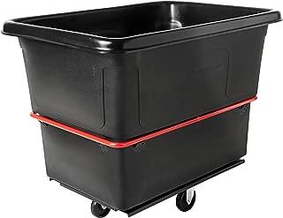 Rubbermaid Commercial Bulk Box Cart, 8 Cu. Ft., Black, FG460800BLA