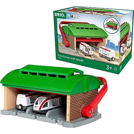BRIO ( ブリオ ) WORLD ハンドル付列車車庫 ( 電車 おもちゃ 木製 レール ) 33474