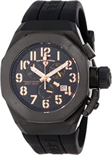 Swiss Legend Men's 10542-BB-01-RA Trimix Diver Chronograph Black Dial Black Silicone Watch