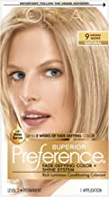 L'OrÃal Paris Superior Preference Fade-Defying + Shine Permanent Hair Color, 9 Natural Blonde, Hair Dye Kit (Pack of 1)