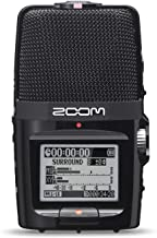 Zoom H2n Stereo/Surround-Sound Portable Recorder, 5 Built-In Microphones, X/Y, Mid-Side, Surround Sound, Ambisonics Mode, ...
