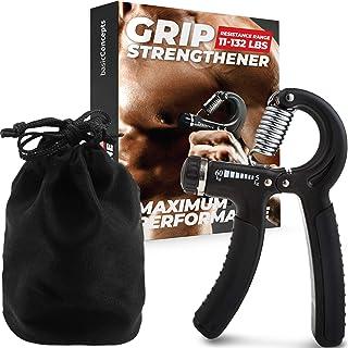 Entrenador de fuerza de agarre, fortalecedor de agarre de mano ajustable, para ejercitar antebrazos, fortalecedor de dedos...